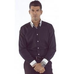 Camisa Hombre M/L Cuello Vuelto