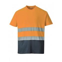 Camiseta Bicolor Alta Visibilidad Mezcla Algodón