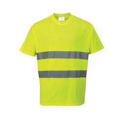Camiseta Alta Visibilidad Mezcla Algodón
