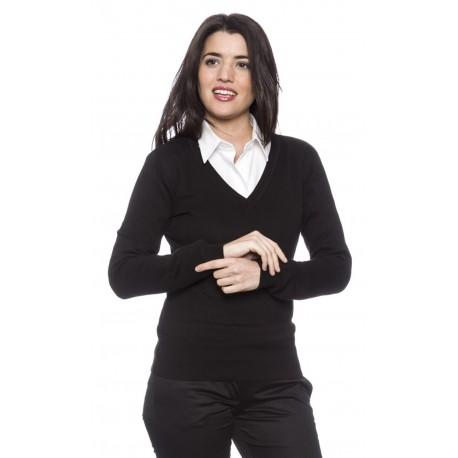 Jersey Mujer Cuello Pico 100% Algodón