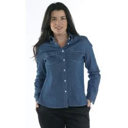 Blusa Vaquera Mujer 100% Algodón