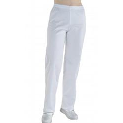 Pantalón Cintura Elástica  Mujer  65% Poliéster - 35% Algodón. Blanca