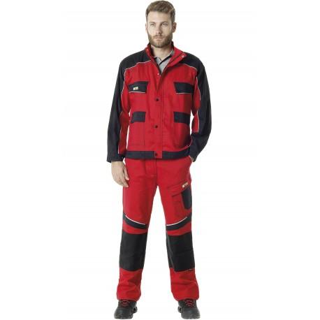 Pantalón bicolor  con rodillas reforzadas en Cordura 65% Pol - 35% Alg, 245grs/m2