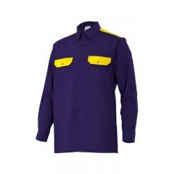 Camisa Bicolor Dos Bolsillos