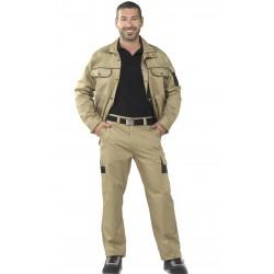 Pantalón Bicolor Unisex Multibolsillos
