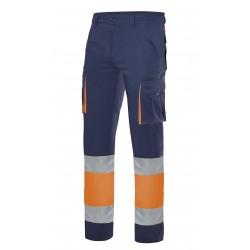 Pantalón 100% Algodón Alta Visibilidad Bicolor